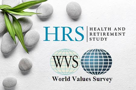 Health and Retirement Study and World Values Survey logos