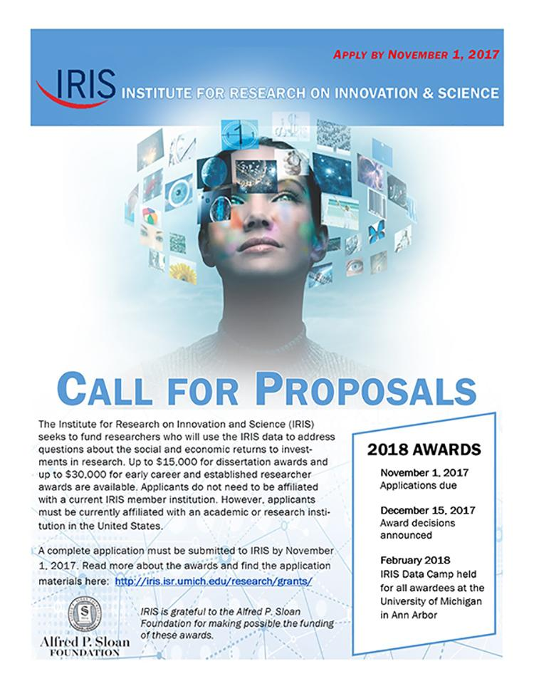Flyer for IRIS call for proposals