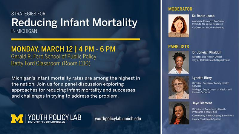 flyer for Reducing Infant Mortality event