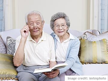 Photo of older Asian couple